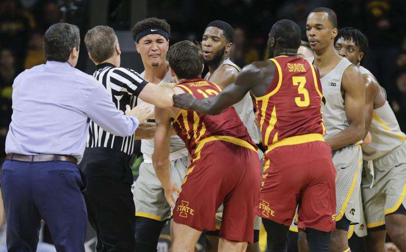 Iowa beats Iowa State in chippy Cy-Hawk men's basketball game