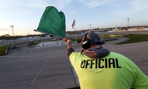 Eastern Iowa race official happy to be waving flags —…