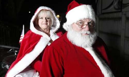 In Hiawatha, this Santa ditches the sleigh and rides a…