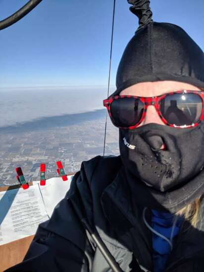 Meet the U. Iowa grad who shattered world hot air balloon records