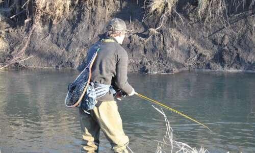 Elkader Central's Derek Ehrhardt finds solace fly fishing