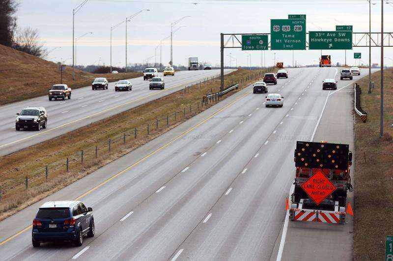 Iowa highway deaths down overall, but not in work zones