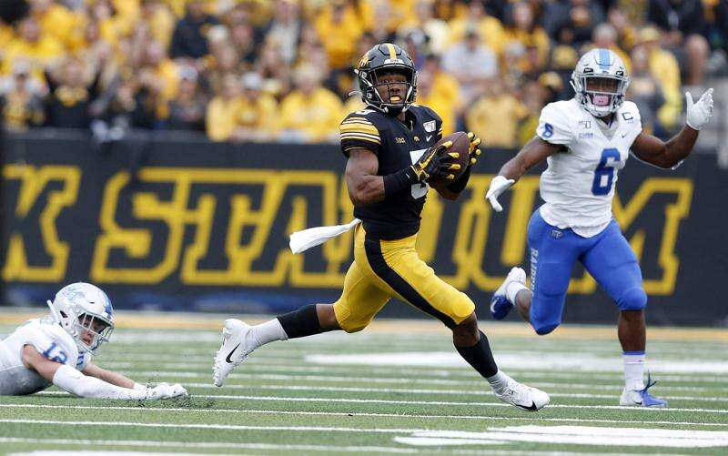 Tyrone Tracy Jr. next in line of Kelton Copeland's vision of Iowa wide receivers