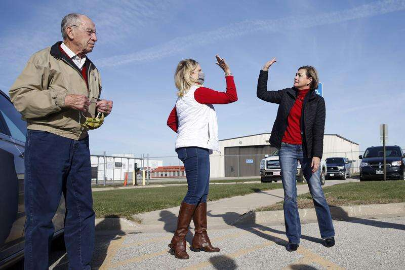 Barbecue, national GOP guests Ronna McDaniel and Ted Cruz on Ashley Hinson menu