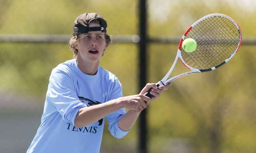 Photos: Boys' tennis district tournament at Cedar Rapids Prairie