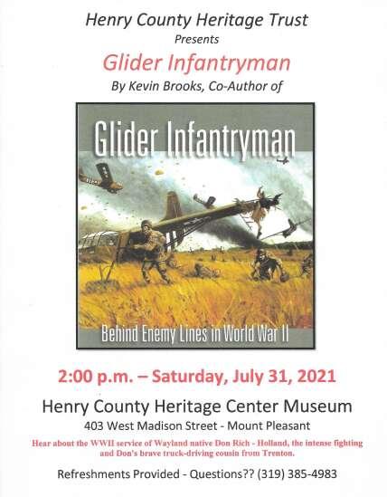 Program on glider infantrymen July 31 in Mt. Pleasant