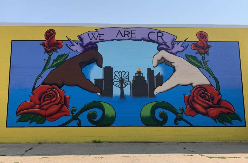 'We Are C.R.' rallying cry for racial justice inspires new Cedar Rapids mural