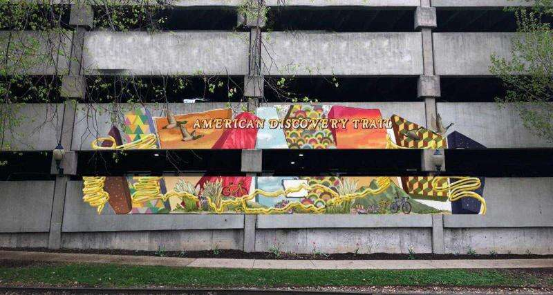 New mural celebrates local and national trail