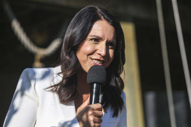Tulsi Gabbard calls for putting 'service above self' in White House