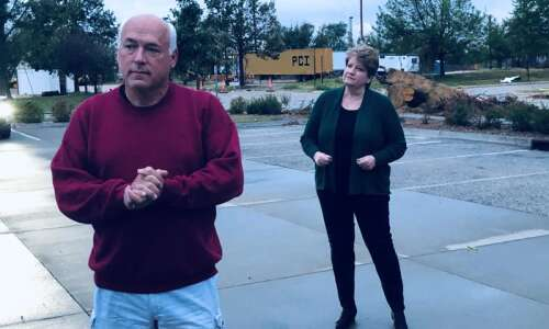 Mirrorbox is staging 'The Parking Lot' in a Cedar Rapids…