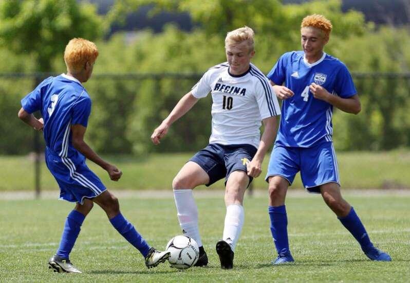 Alec Wick's role goes beyond scoring for Iowa City Regina as boys' soccer returns