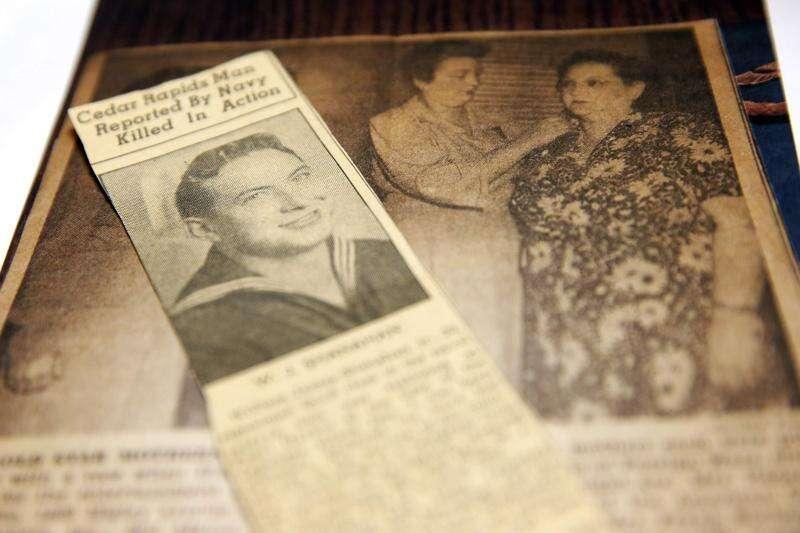 Remains of Cedar Rapids man killed in Pearl Harbor coming home