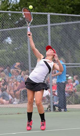 City High's Small looks to climb final rung on state tennis ladder