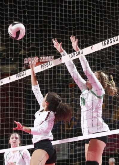 Photos: Osage vs. Grundy Center, Iowa Class 2A state volleyball quarterfinals