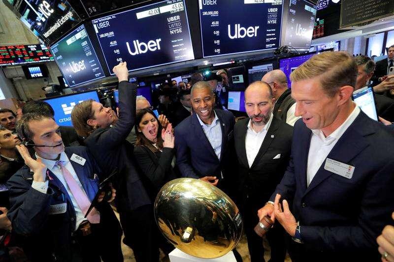 Uber fizzles in Wall Street debut