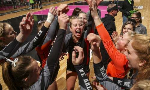 West Delaware sweeps Gilbert to reach 4A state volleyball championship…