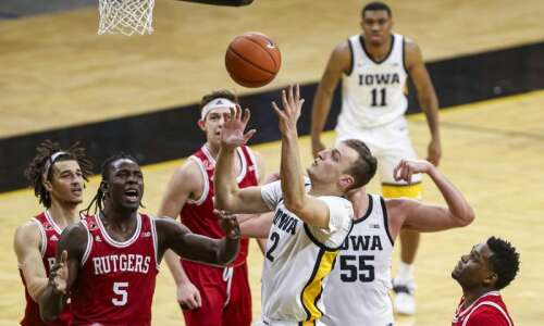 Photos: Iowa men's basketball vs. Rutgers