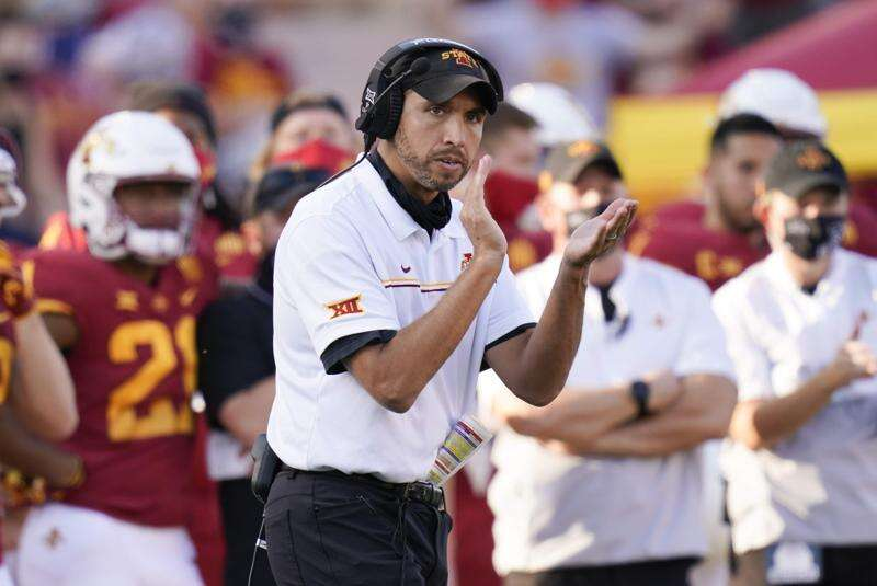 Iowa State in rare spot atop Big 12 as it faces fellow front-runner Oklahoma State