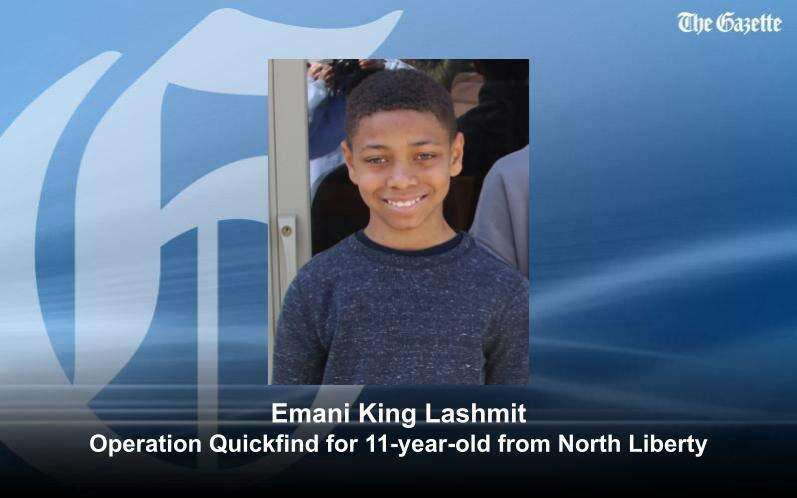 CANCELED: Operation Quickfind for Emani King Lashmit of North Liberty