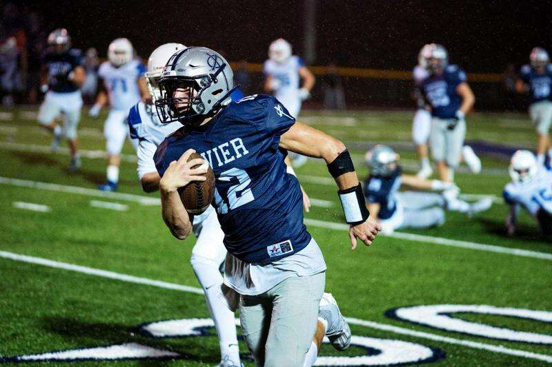 Cedar Rapids Xavier QB Jaxon Rexroth shows running ability in win over Clear Creek Amana