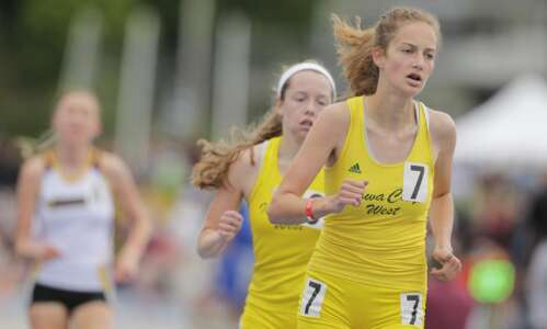 Bailey Nock earns Iowa City West's first 3,000 title