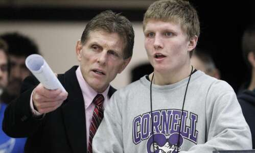 Cornell climbs to ninth before national duals