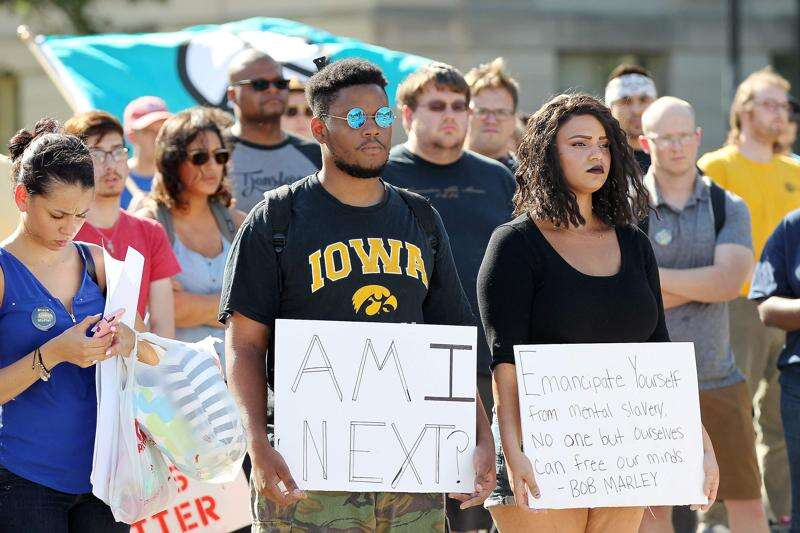 Scores in Iowa City protest police brutality