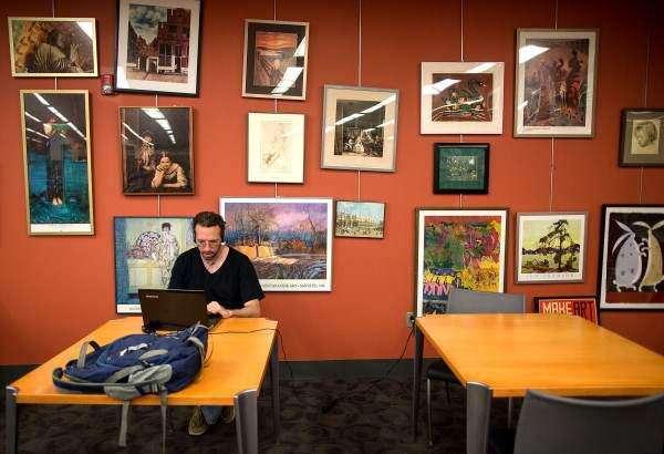 Iowa City library loans art