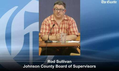 Johnson County Board of Supervisors chair compares flood, COVID-19 crises,…