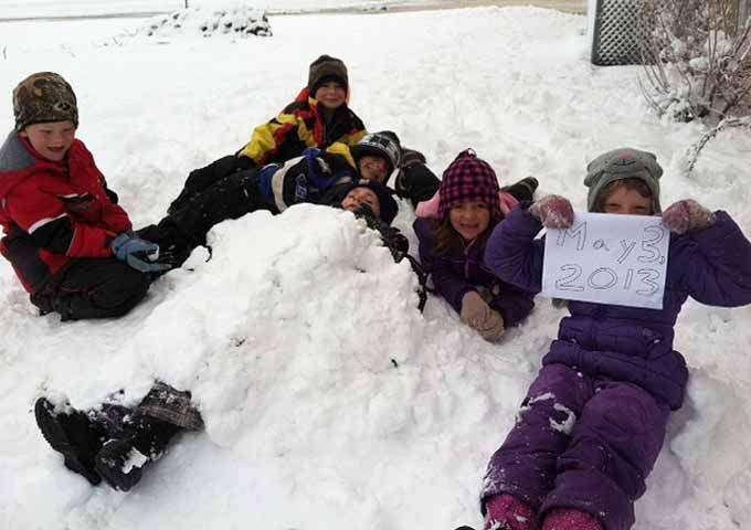 Rare May snowstorm sets several Iowa records