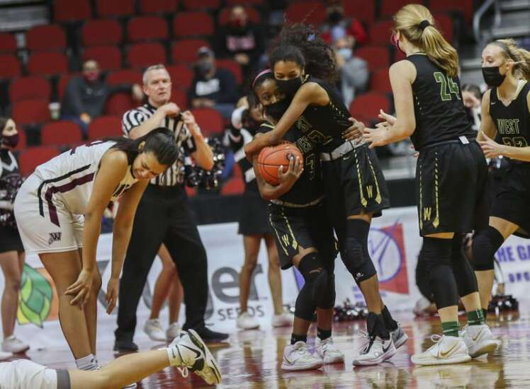 Iowa City's West is best in a 5A girls' state basketball thriller