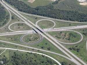 Semi tips on side near 80, 380 interchange; traffic slows