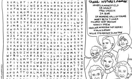 Word search: Find the trailblazing Iowa women