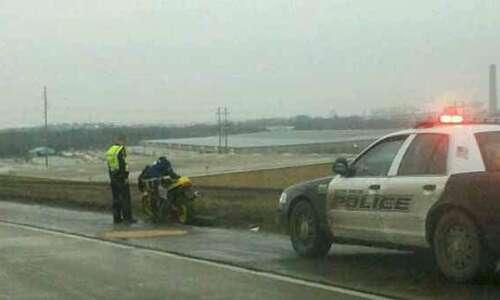 Motorcycle crash slows southbound Interstate 380 traffic