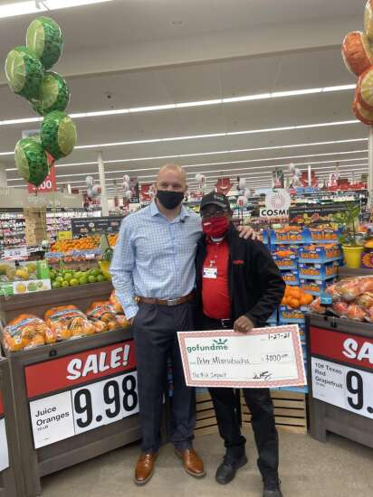 Hy-Vee cashier helped customer who was short $12, and his kindness is being rewarded in big way
