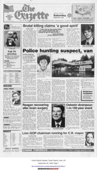 Cold case murder of Cedar Rapids man 30 years ago closed by police