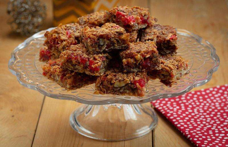Marking a holiday tradition with cherry bars and peppermint mocha brownies