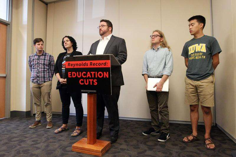 Iowa Democrats focus on higher education in November governor, statehouse elections