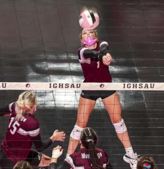Photos: Mount Vernon vs. Union, Iowa Class 3A state volleyball quarterfinals