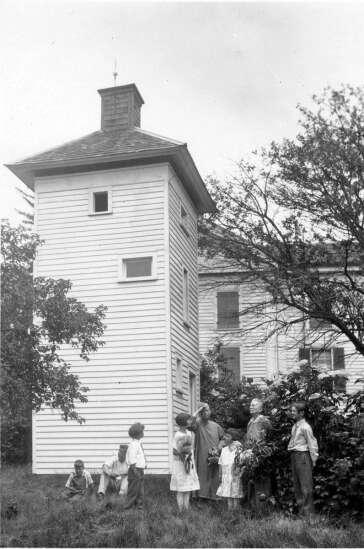 Birds nest in historic chimney swift tower