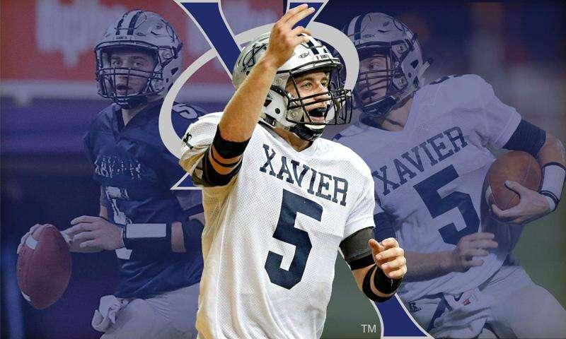 Quinn Schulte of Cedar Rapids Xavier is The Gazette's 2018 football player of the year