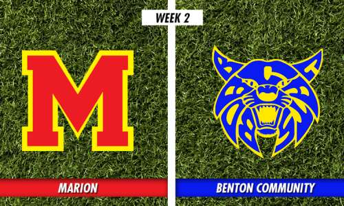 Benton rules the trenches, trips Marion