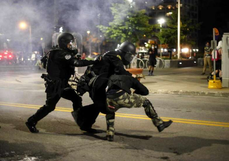 What did Iowans think all this riot gear was for?
