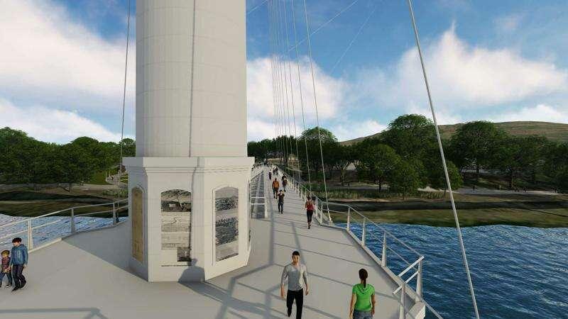 Pedestrian bridge group wants to recreate 'iconic' Sinclair smokestack