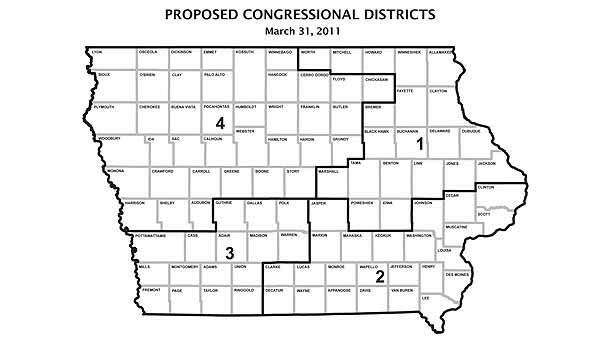 Iowa's congressional districts have too many people