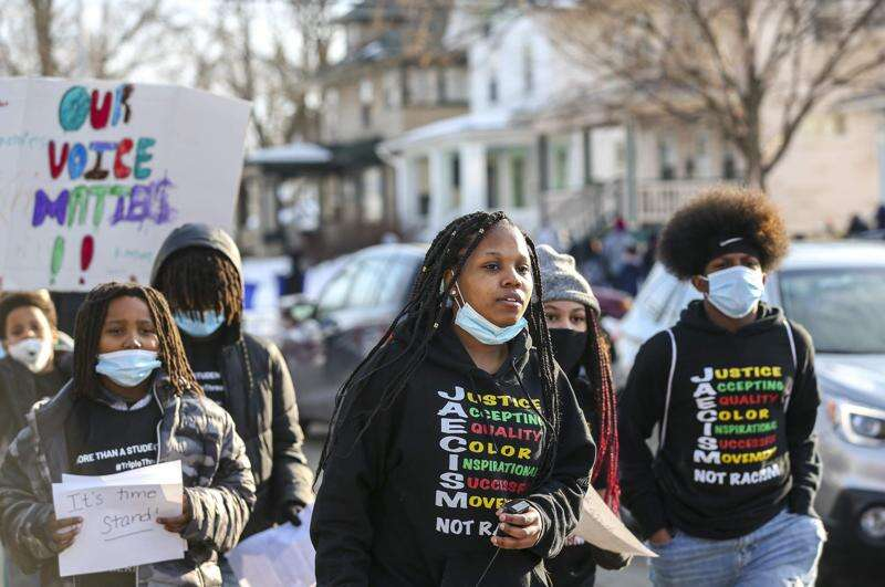 Students speak up for racial justice in 'March on Washington' in Cedar Rapids