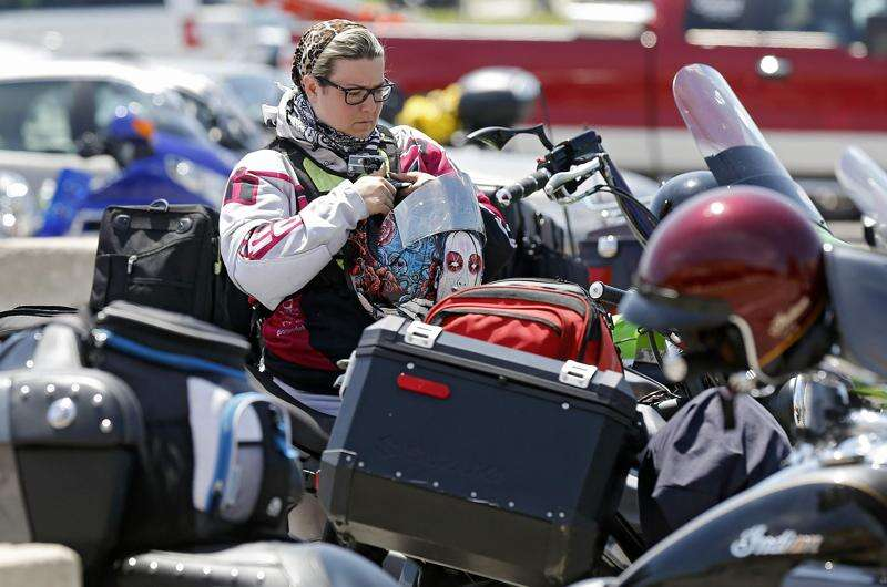 Women's empowerment is theme of cross-country motorcycle trip