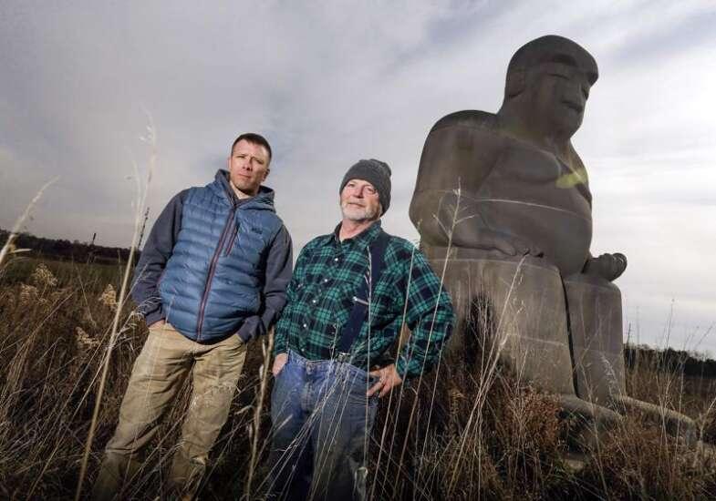 Moving Iowa City's Buddha: 110 tons of karma