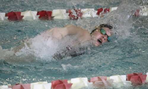 Fairfield swimming edged by Tipton