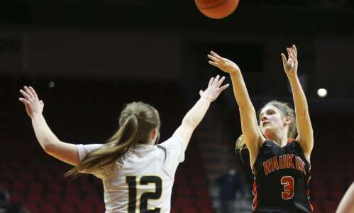 Photos: Class 3A Girls' state basketball quarterfinals: Waukon vs. Clear…